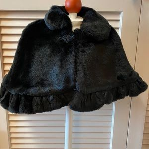 The Children's Place 18 Months Black Faux Fur Cape